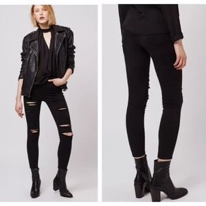 Topshop Moto Super Rip High Waisted Jamie Jeans